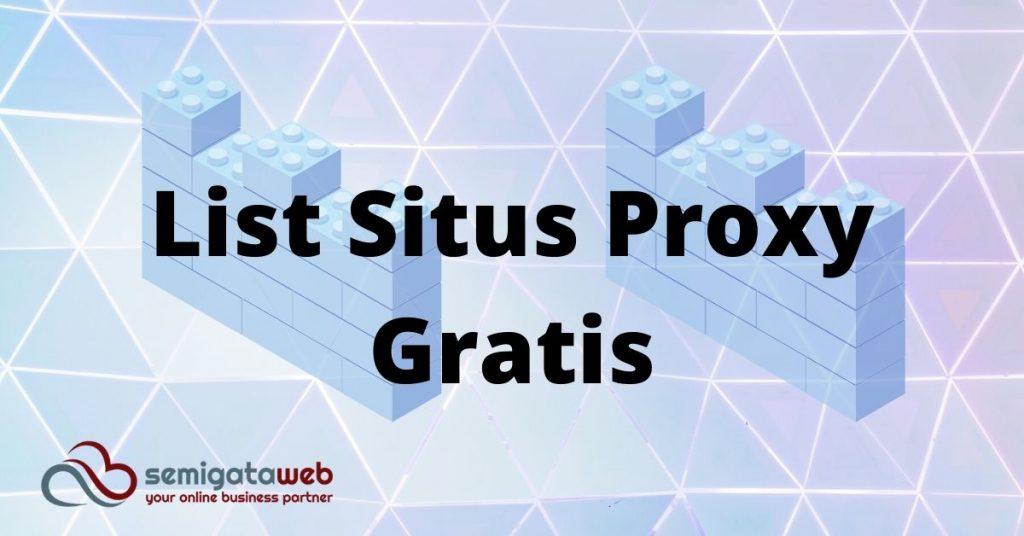 List Situs Proxy Gratis